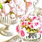 Floral Bouquets Pink Roses  Art Print