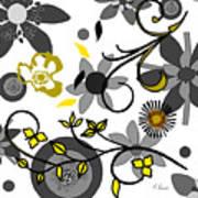 Floral Collision Art Print
