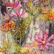 Floral Cosmos Art Print