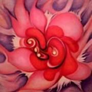 Floral Energies Art Print
