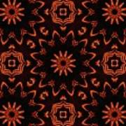 Floral Fire Tapestry Art Print