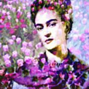 Floral Frida Vi Art Print
