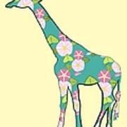 Floral Giraffe Art Print