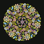 Floral Mandala Pattern Art Print