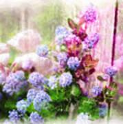 Floral Merge 11 Art Print by Artzmakerz