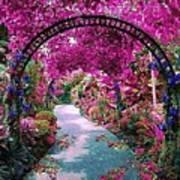 Floral Pathway Art Print