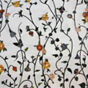 Floral Satin Art Print