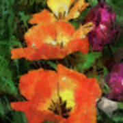 Floral Spring Tulips 2017 Pa 02 Vertical Art Print