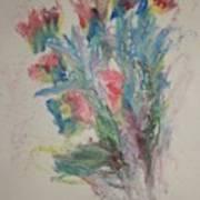 Floral Study In Pastels B Art Print