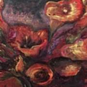 Floral Sun Worship Art Print