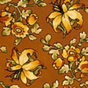 Floral Textile Design Art Print