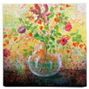 Floral With Eastern Tapestry Art Print
