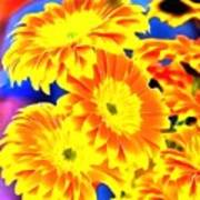 Floral Yellow Painting Lit Art Print