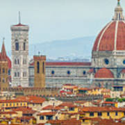 Florence And The Roofs Art Print