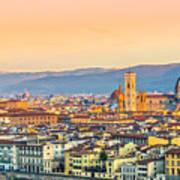 Florence At Sunrise - Tuscany - Italy Art Print