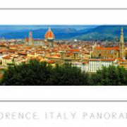 Florence, Italy Panoramic Poster Art Print