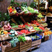 Florence Produce Stand Art Print