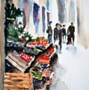 Florence Street Market Art Print