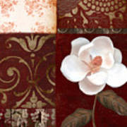 Flores Blancas Square I Art Print