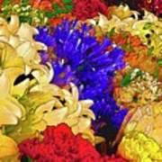 Flores Y Lilas Art Print