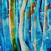 Floresta Azul Art Print