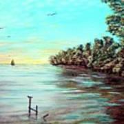 Florida Bay's Elliot Key Art Print