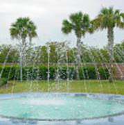 Florida Fountain Art Print