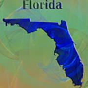 Florida Map Art Print