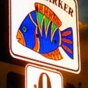 Florida Mile Marker 0 Art Print