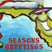Florida Seasons Greetings Art Print