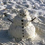 Florida Snowman Art Print