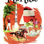 Florida, Vintage Travel Poster Art Print