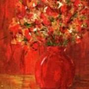 Florists Red Art Print