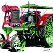 Flour City Gas Tractor Art Print