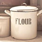 Flour Tin Art Print