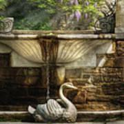 Flower - Wisteria - Fountain Art Print