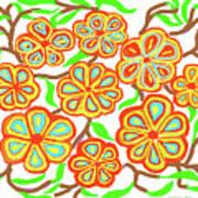 Flower Carnival Art Print