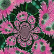 Flower Design Print by Karol Livote