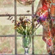 Flower - Flower - A Vase Of Flowers  Art Print