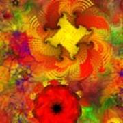 Flower Garden 8-27-09 Art Print