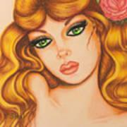 Flower Girl 2 Art Print
