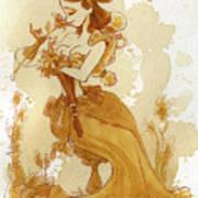 Flower Girl Art Print by Brian Kesinger