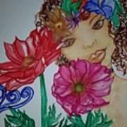 Flower Goddess  Art Print
