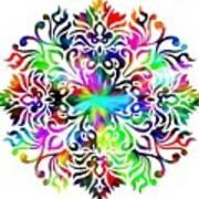 Flower Mandala 4 Art Print