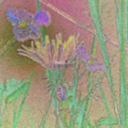 Flower Meadow Line Art Print