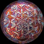 Flower Of Life Copper Lightmandala Art Print