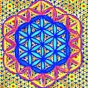 Flower Of Life Fractle Art Print