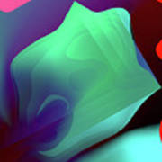 Flower Pedal Teal Two Art Print