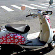Flower Power For A Montreal Motor Scooter Art Print