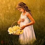 Flower S Basket Art Print